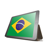 Tablet with Brazil flag