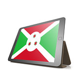 Tablet with Burundi flag