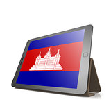 Tablet with Cambodia flag