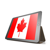 Tablet with Canada flag