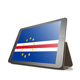 Tablet with Cape Verde flag