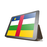 Tablet with Central African Republic flag