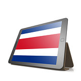 Tablet with Costa Rica flag