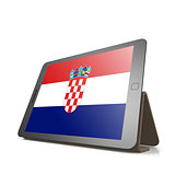 Tablet with Croatia flag