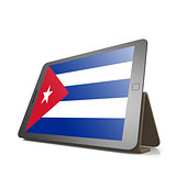 Tablet with Cuba flag