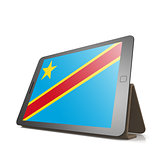 Tablet with Democratic Republic of the Congo flag