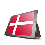 Tablet with Denmark flag