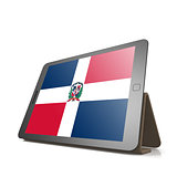 Tablet with Dominican Republic flag