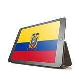 Tablet with Ecuador flag