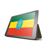 Tablet with Ethiopia flag