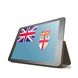 Tablet with Fiji flag