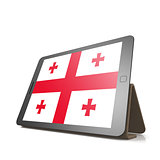 Tablet with Georgia flag