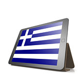 Tablet with Greece flag