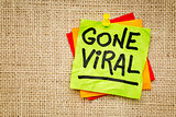 Gone viral - sticky note