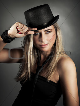 Attractive model portrait