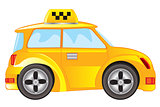 Car taxi on white background