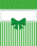 Card invitation green