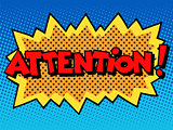 attention inscription comic book style