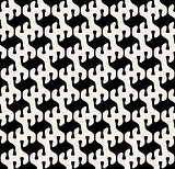 Vector Seamless Black And White Rounded Drop Shape Pattern