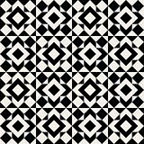 Vector Seamless Black And White Square Geometric Pattern