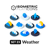 Isometric flat icons set 23