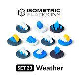 Isometric flat icons set 23