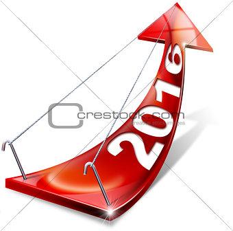 2016 Red Positive Arrow