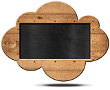 Blackboard Cloud Shaped
