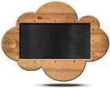 Blackboard Cloud Shaped