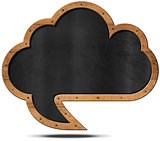 Cloud Blackboard - Speech Bubble Shaped