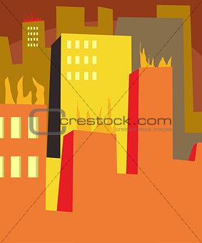 Abstract Urban Inferno