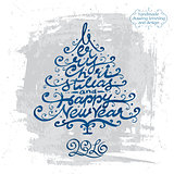 MERRY CHRISTMAS tree lettering