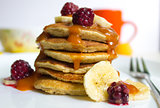 Pancakes with berries and fruits
