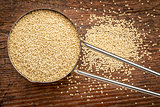amaranth grain measuring scoop