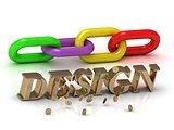 DESIGN- inscription of bright letters and color chain