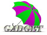 GADGET- inscription of silver letters and umbrella