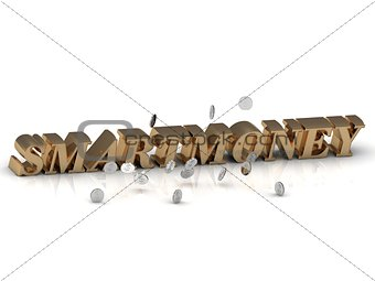 SMARTMONEY- inscription of gold letters on white background