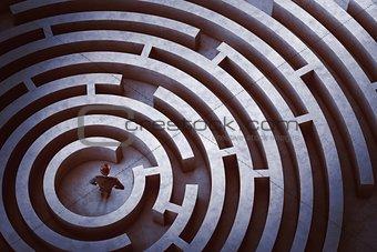 Center of a maze