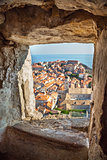 Aerial View on the Old City of Dubrovnik, Croatia
