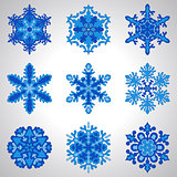 Vector Blue Snowflakes