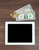 Tablet with money