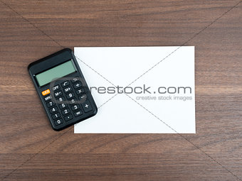 Blank card with calculator