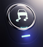 button with traction control symbol