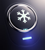 button with snow symbol