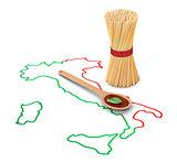 concept of italian pasta