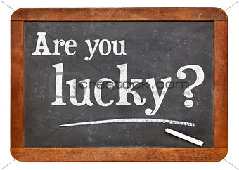 Are you lucky question on blackboard