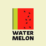 Watermelon Abstract logo icon vector sign flat style design trend illustrations