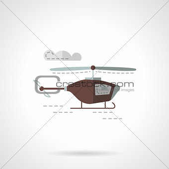 Flat color copter vector icon