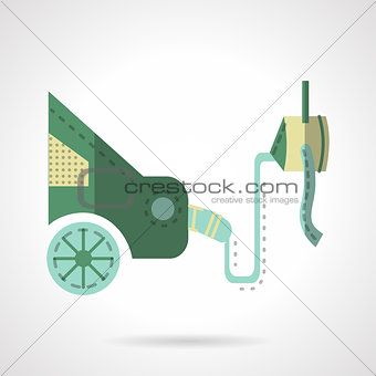 Automobile emission test flat vector icon