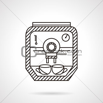Flat line coffee appliance vector icon